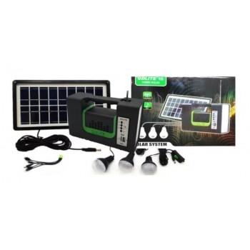 Kit solar portabil GD-10 Premium Plus, USB, 3 becuri, lanterna LED