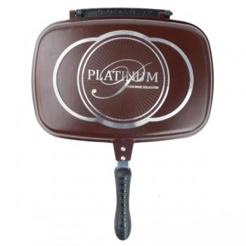 Tigaie dubla - Doubletta Platinum acoperit cu marmură , 32CM BURGUNDY